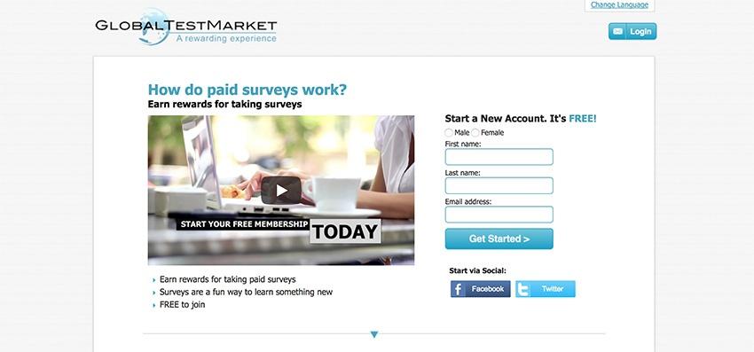 GlobalTestMarket Paid Surveys