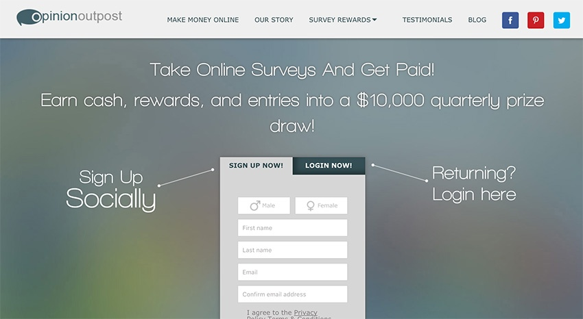 OpinionOutpost Paid Surveys
