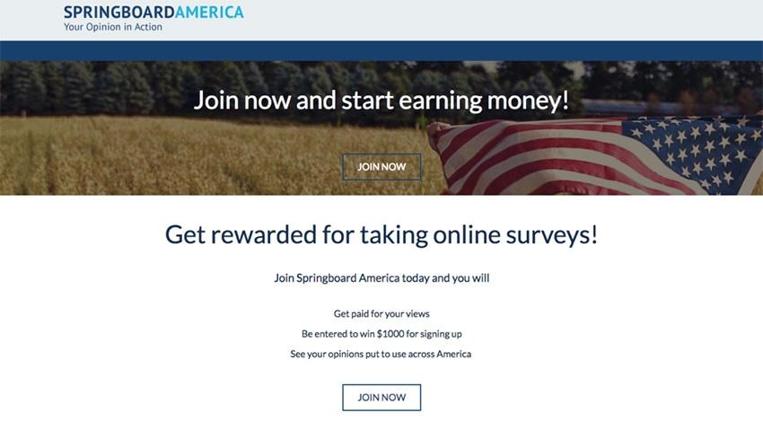 Springboard America Paid Surveys