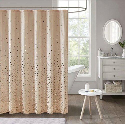 shower curtain peach