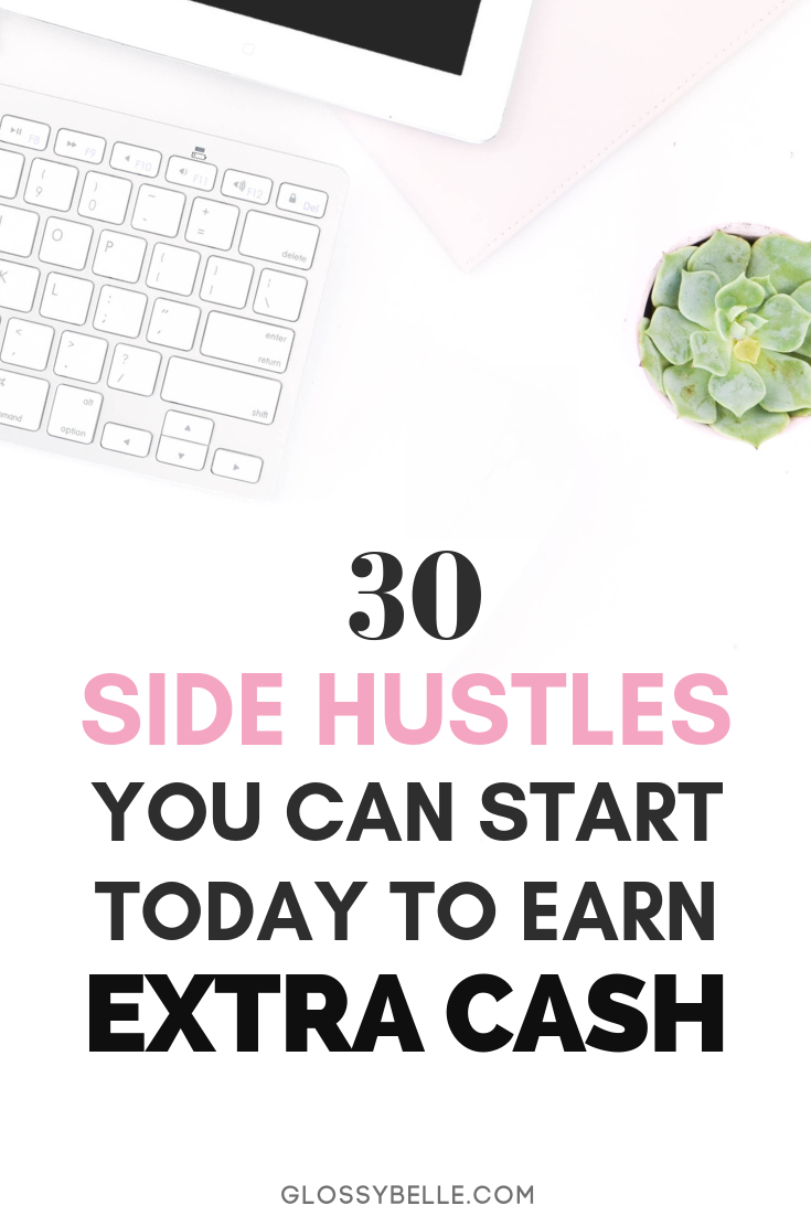 Whether you're saving money for a trip, retirement, or to finally quit your 9-5 desk job, here are 30 easy side hustles you can start today to earn extra cash & diversify your income stream. | earn extra money | start a business | business tips | business ideas | solopreneur | make extra cash | passive income | affiliate marketing #workfromhome #workfromhomejobs #makemoneyonline #sidehustle #entrepreneur #girlboss #passiveincome