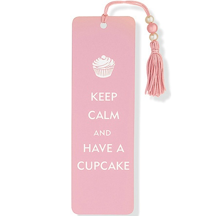 keep calm and have a cupcake bookmark