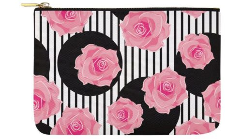 rose cosmetic bag pouch