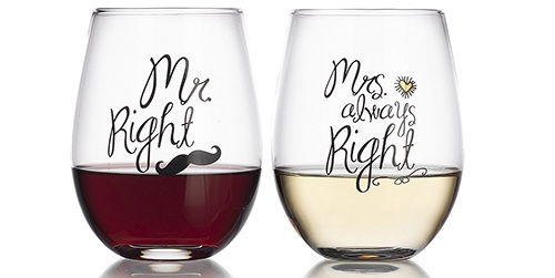 mr. and mrs. right cups