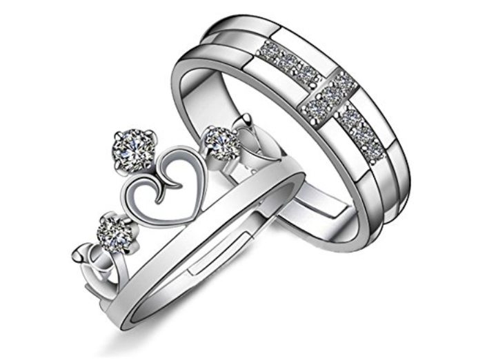 promise couple ring set