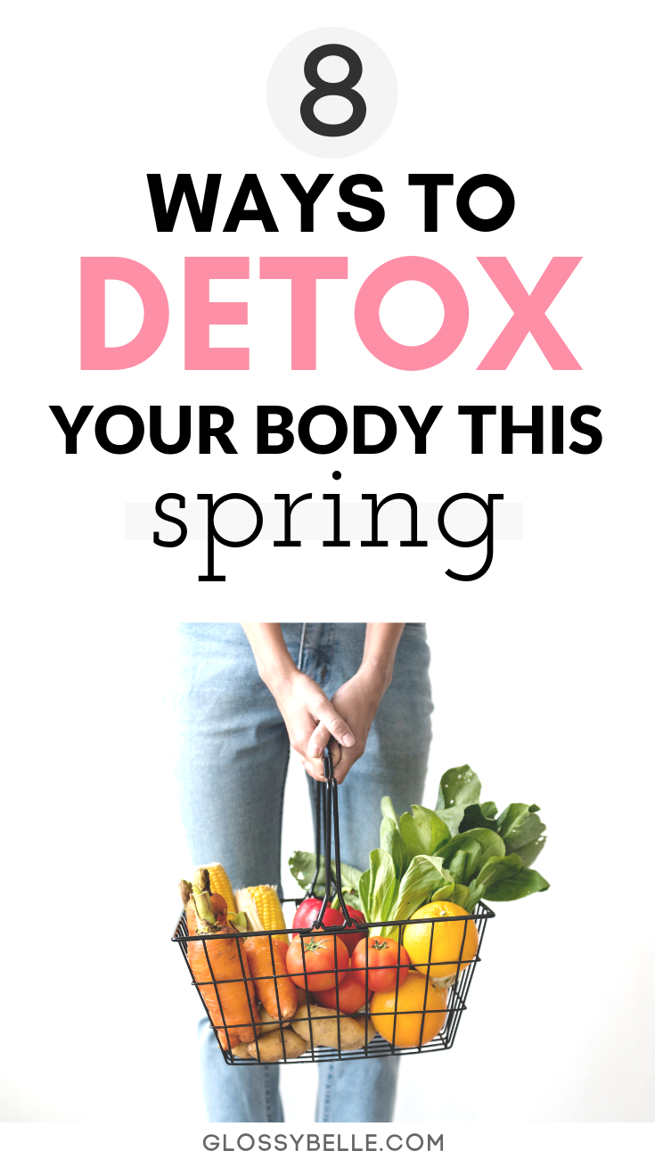 With spring finally on its way, there is no better time than now to renew your body, jumpstart your metabolism, and clear away any toxins that may have been building up during the colder months.Here are 8 ways you can internally and externally detox your body this spring season.   get healthy this spring   detox cleanse   detoxification   detox baths   clay masks #detoxify #wellness #health #detox #cleanse #selfcare #healthyliving #ad