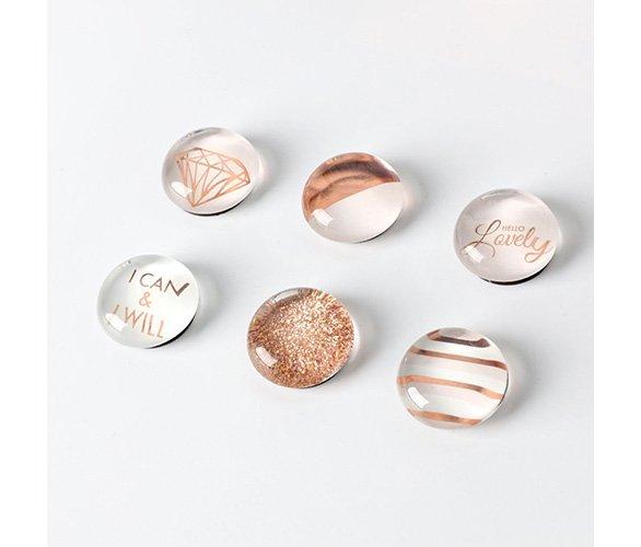 rose gold magnets