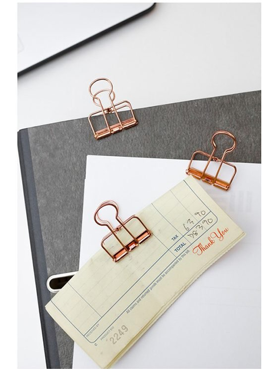 rose gold wire clips