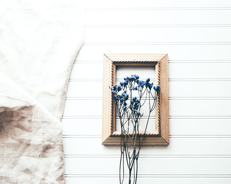 flowers on a picture frame