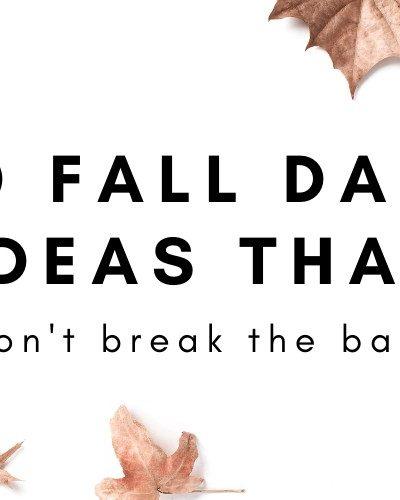 20 fall date ideas that won't break the bank